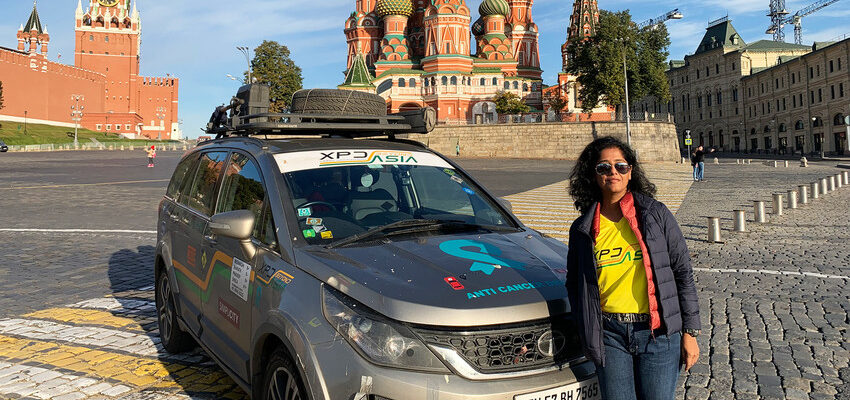 This woman traveled from India to Russia… by car